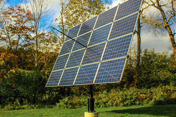 Tracker Mounted Residential Solar Panels
