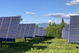 Solar trackers in Lunenburg, VT